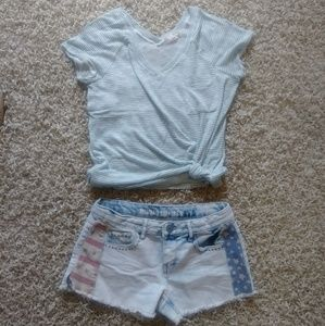 Mossimo Flag Shorts